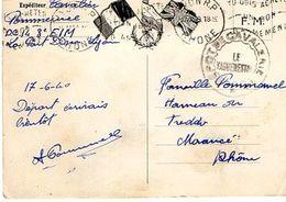 C4 1940 Carte FM Du Dépot De Cavalerie De La Part Dieu A Lyon - 2. Weltkrieg 1939-1945