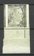 Deutschland Germany Deutsches Reich 1941/44 Michel 794 ERROR Abart + Perforation Variety MNH - Errors And Oddities