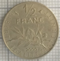 50 Centimes, 1/2 Francs , République Française, 2000, TTB - France