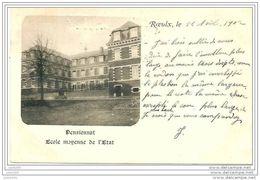 LE ROEULX ..-- Pensionnat Ecole Moyenne De L' Etat . 1902 Vers VIRTON ( Mme HUGON GOFFIN )  . Voir Verso . - Le Roeulx