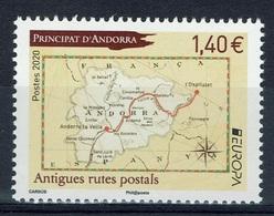 Andorra (French Adm.), EUROPA 2020, Ancient Postal Routes, 2020, MNH VF - Ungebraucht