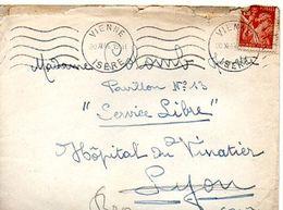 C4 1944 Lettre + Courrier Pour L'hopital Du Vinatier A Lyon - WW II