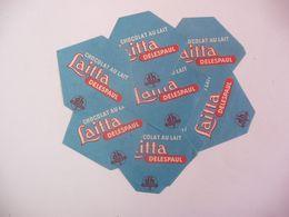 Lot De 10 étiquettes De Chocolat Au Lait DELESPAUL - Other