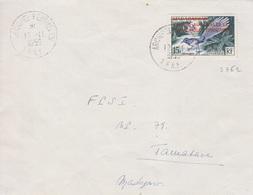 N° 1 Obl. Kerguelen Le 19-11 1956 Pour Tamatave, Voyage Du Galliéni - Terres Australes Et Antarctiques Françaises (TAAF)
