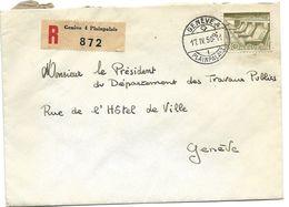 116 - 55 - Enveloppe Recommandée Envoyée De Genève Plainpalais 1950 - Suisse