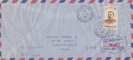 Lettre Par Avion, N° 318 (Madagascar) Obl. Kerguelen Le 4-5 1951 Pour Marseille, Courrier Du Laperouse - Terres Australes Et Antarctiques Françaises (TAAF)