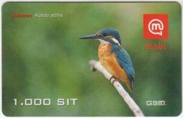 SLOVENIA B-111 Prepaid Mobi - Animal, Bird, Common Kingfisher - Val. 31/12/2008 - Used - Slovénie