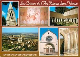 89 - Yonne - Trésors De L'Art Roman Dans L'Yonne - Multivues - CPM - Voir Scans Recto-Verso - France