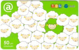 THAILAND G-961 Prepaid 1-2-Call - Cartoon, Animal, Sheep - Used - Thaïlande