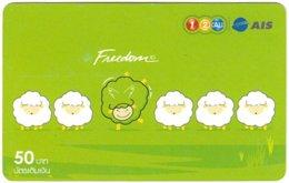 THAILAND G-962 Prepaid 1-2-Call - Cartoon, Animal, Sheep - Used - Thaïlande