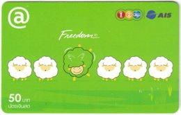 THAILAND G-963 Prepaid 1-2-Call - Cartoon, Animal, Sheep - Used - Thaïlande