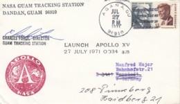 USA Raketen / Aerospace Cover Mit Autogramm 1971 - Non Classificati