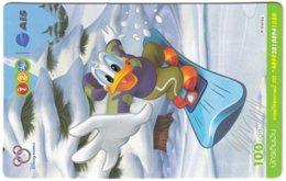 THAILAND G-973 Prepaid 1-2-Call - Comics, Walt Disney - Used - Thaïlande