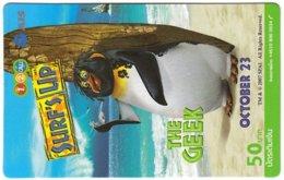 THAILAND G-982 Prepaid 1-2-Call - Cinema, Surf's Up - Used - Thaïlande