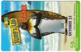 THAILAND G-986 Prepaid 1-2-Call - Cinema, Surf's Up - Used - Thaïlande