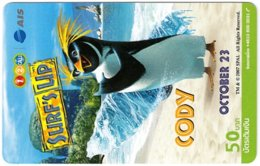THAILAND G-989 Prepaid 1-2-Call - Cinema, Surf's Up - Used - Thaïlande