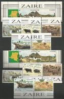 2x ZAIRE - MNH - Animals - Wild Animals - Timbres