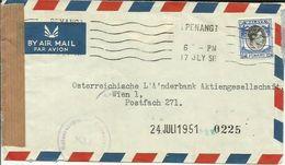 MALAYA 1951 GEORGE V CENORED TO GERMANY - Pahang