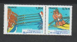 TIMBRE -  2015  -  N° 4973/74 -Sport , Championnat Du Monde D'Aviron -  Neuf Sans Charnière - France