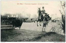 CPA CONCOURS HIPPIQUE A PAU NUMERO 497 SAUT DU MUR EDITEUR PPPM  BEL ETAT CARTE VIERGE - Chevaux
