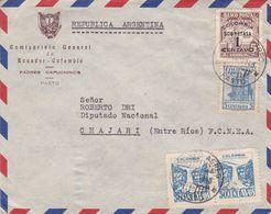 COMISARIATO GENERAL DE ECUADOR - COLOMBIA, PADRES CAPUCHINOS. COLOMBIE ENVELOPE, CIRCULEE PASTO A CHAJARI 1948  -LILHU - Kolumbien