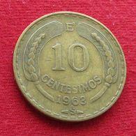 Chile 10 Centesimos 1963 KM# 191 Full 3  Chili - Chili