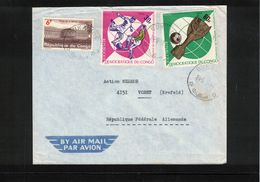Congo Brazaville 1968 World Football Cup England Interesting Airmail Letter - Coppa Del Mondo