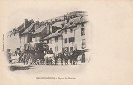 15 CHAUDESAIGUES  Le Depart Du Courrier Vers  ST FLOUR - Altri Comuni