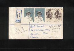 Ireland 1983 Interesting Registered Letter - 1949-... Republic Of Ireland