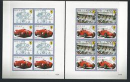 Nevis 2010 Ferrari Sheet Set Of 4  Y.T. 2135/2142 ** - Automobili