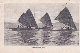 FIJI . Canoe Race (Course  De Voiliers )  Timbre Fiji 1d Rouge - Fiji
