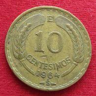 Chile 10 Centesimos 1964 KM# 191 Chili - Chili
