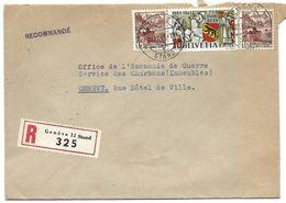 20 - 16 - Enveloppe Recommandée Envoyée De Genève 11 Stand 1941 - Covers & Documents