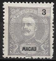 Macao Macau – 1898 King Carlos 3 Avos - Macao