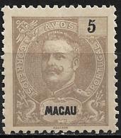 Macao Macau – 1900 King Carlos 5 Avos - Macao
