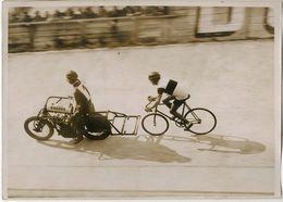 Photo Argentique Vélo Moto Parc Des Princes Vers 1930 - Cyclisme