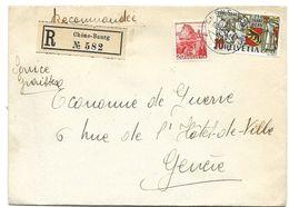 I - 74 - Enveloppe Recommandée Envoyée De Chêne-Bourg 1941 - Covers & Documents
