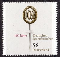 2013Germany2999100 Year Old German Sports Sign - Unused Stamps