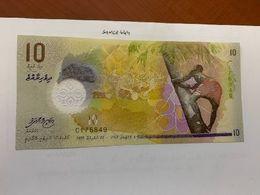 Maldives 10 Rufiyaa Uncirc. Polymer Banknote 2015 - Maldives