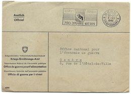 """I - 71 - Enveloppe """"officiel"""" Oblit Mécanique 750 Jahre Bern 1941"""" - Covers & Documents"""