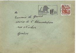 I - 62 - Enveloppe Avec Superbe Oblit Mécanique Genève 1943 - Suisse