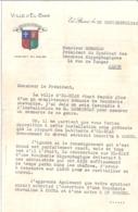 COURRIER -VILLE D'EL-BIAR ALGERIE-1942.MAIRIE EMET UN AVIS FAVORABLE A L'INSTALLATION D'UNE BOUCHERIE HIPPOPHAGIQUE - Documenten