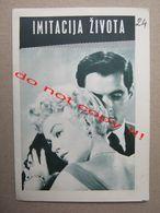 Imitation Of Life (1959) / Douglas Sirk: Lana Turner, John Gavin, Sandra Dee ( Yugoslav Program ) - Programme