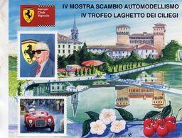 Ferrari Club Vignola  -  Ferrari 125S  -  Enzo Ferrari  -  Artwork Giovanni Cremonini  -   Feuillet Sheet Neuf/Mint/MNH - Automobilismo