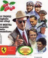 Ferrari Club Vignola  -  Les Pilotes   -  Enzo Ferrari  -  Artwork Giovanni Cremonini  -   Feuillet Sheet Neuf/Mint/MNH - Automobilismo