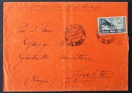 Regno, 2 Lire Aeroespresso Su Busta Del 1943 Con Annullo Posta Militare -CU62 - 1900-44 Victor Emmanuel III