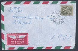 Rara Carta Que Chegou Ao SPM 1956, Angola, Na Guerra Colonial Em 1962, Apenas Com O Endereço 1956. Caldas Da Rainha - Variétés Et Curiosités