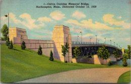 Massachusetts Northampton Calvin Coolidge Memorial Bridge Curteich - Northampton