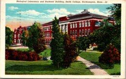 Massachusetts Northampton Bilogical Laboratory & Students' Building Smith College 1951 Curteich - Northampton