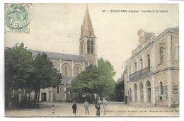SOUSTONS - La Mairie Et L'Eglise - Soustons